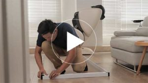 輕靜無軌摺疊紗門的安裝方法的教學影片