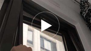 井美摺疊防蚊紗窗在推窗上安裝與調整方法的教學影片