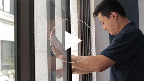 井美摺疊防蚊紗窗在拉窗上安裝與調整方法的教學影片