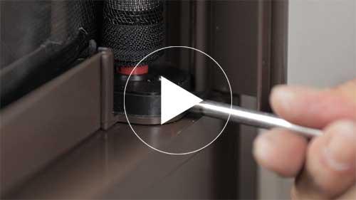Zip捲軸隱形紗窗的安裝調整方法教學影片