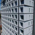 與良展配合之建案 - 台中市 - 台中大毅老爺酒店 - 產品 : 井美無縫摺疊紗窗 - 建築側面
