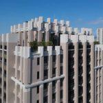 與良展配合之建案 - 台中市 - 國泰綠博苑 - 產品 : 摺疊紗門 / 摺疊紗窗 - 頂樓側面