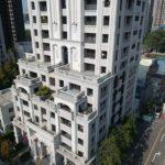 與良展配合之建案 - 台中市 - 時代圓滿大廈 - 產品 : 折疊紗窗 - 半棟建築