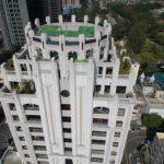 與良展配合之建案 - 台中市 - 時代圓滿大廈 - 產品 : 折疊紗窗 - 建築頂部