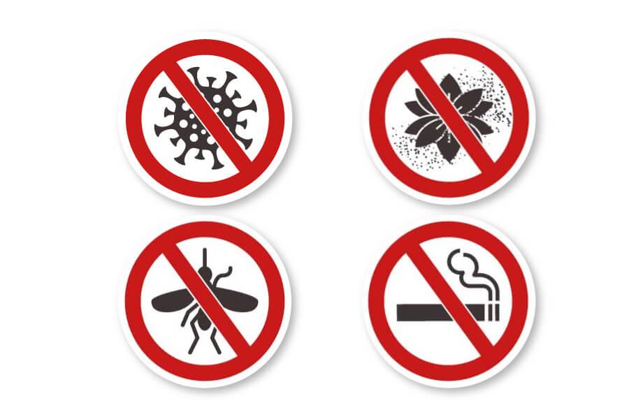 抑菌防霾紗窗- 網格細密,能有效抗菌、防蟲、防花粉、防二手菸